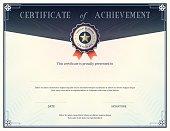 Certificate of achievement design template