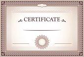 Certificate of Achievement design.