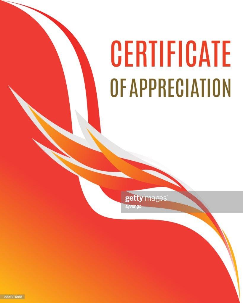 Certificate of Appreciation design