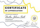 Certificate of appreciation template design. Elegant business di