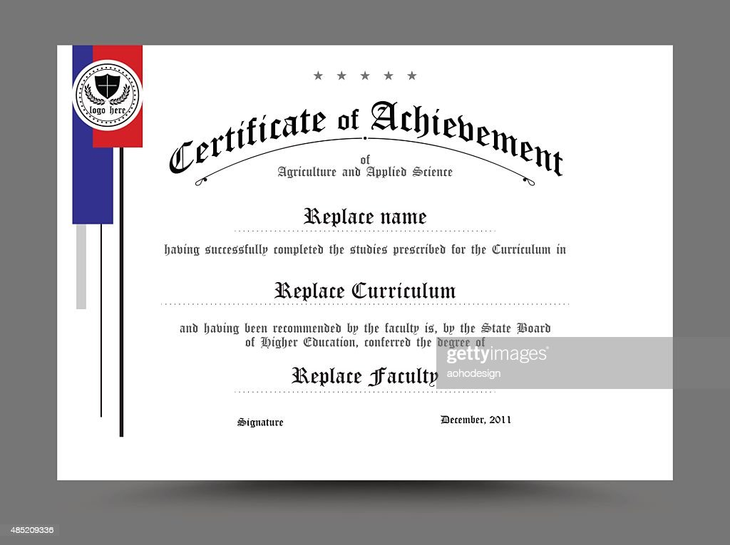 Certificate of archievement template design. vector illustration