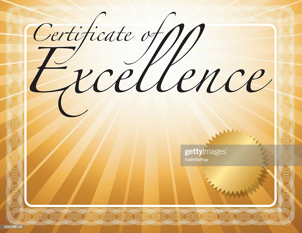Certificate of Excellence Background