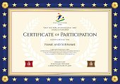 Certificate of participation in sport theme for football match