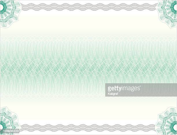 certificate or diploma background - paper currency stock illustrations, clip art, cartoons, & icons