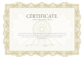 Certificate. Template diploma currency border.
