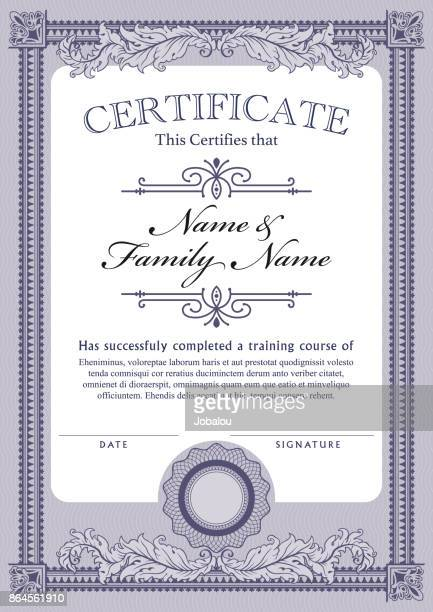 certificate template diploma - stock certificate stock illustrations