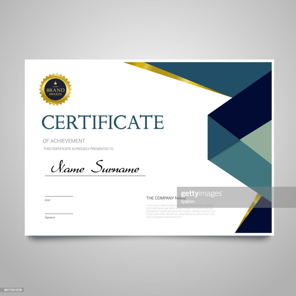 Certificate Template - horizontal elegant vector document