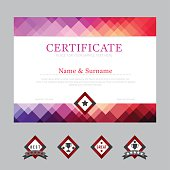Certificate template layout background frame design vector. mode