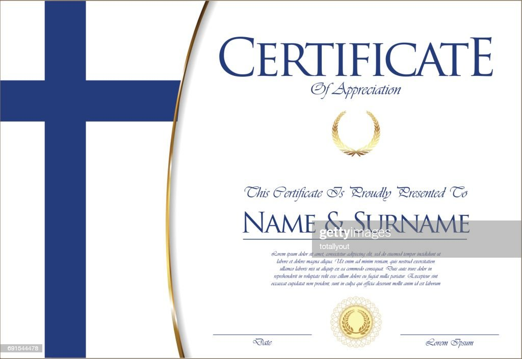 Certificate Template Vector Art Getty Images
