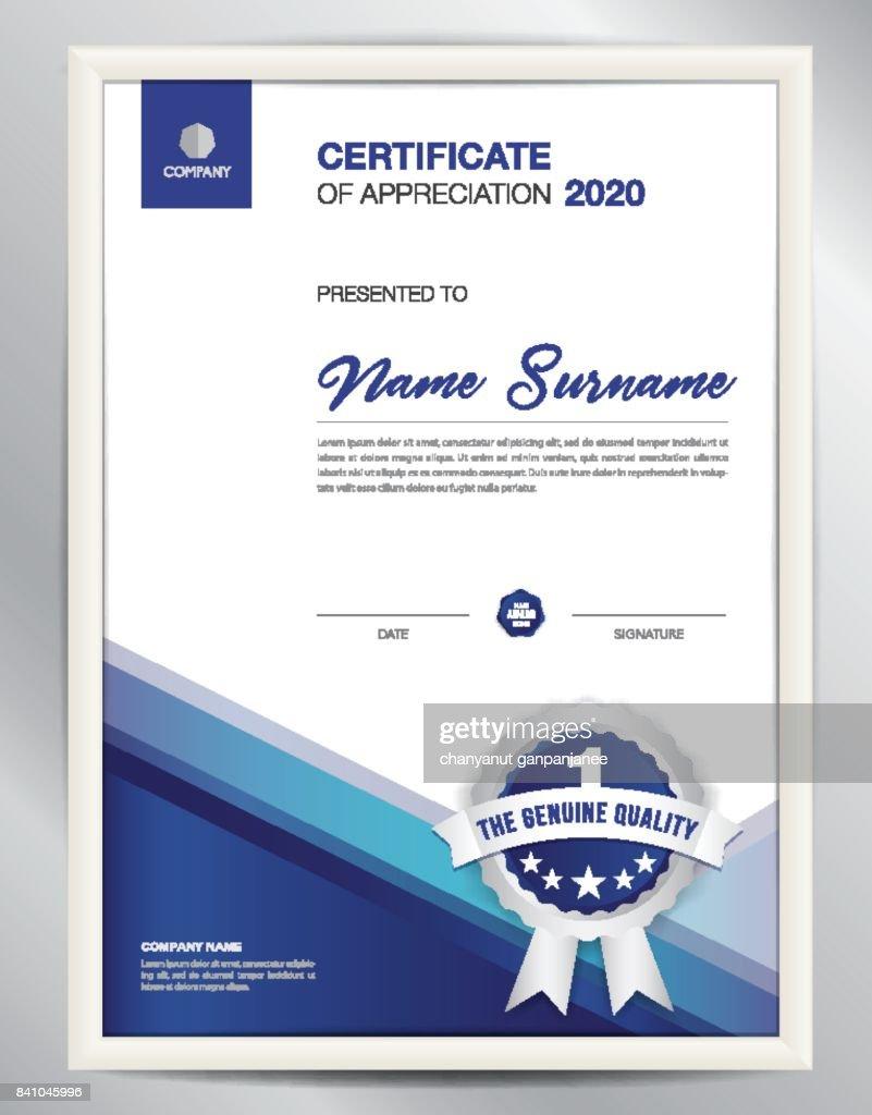 Zertifikatvorlagevektorillustration Diplomlayout Im A4format ...