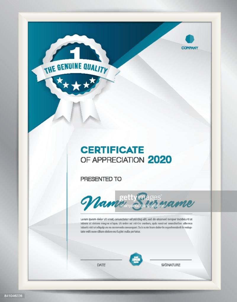 Ilustración De Vector De Plantilla De Certificado La Disposición Del ...