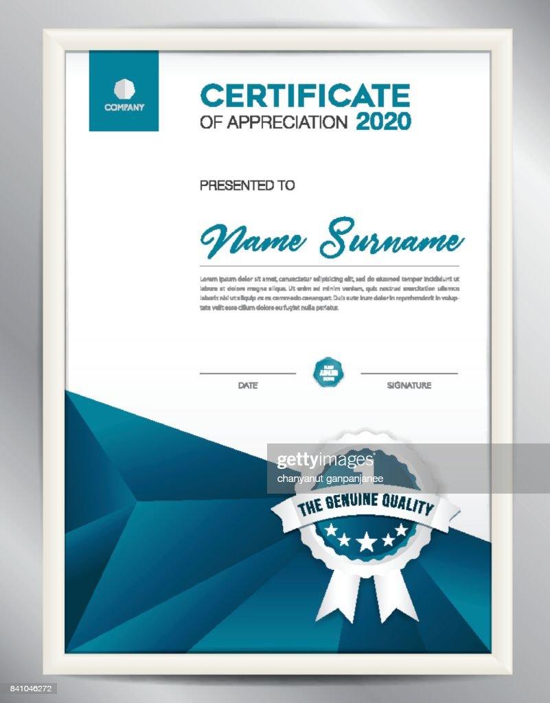 Certificate template vector illustration diploma layout in a4 size certificate template vector illustration diploma layout in a4 size business flyer design advertisement printing achievement appreciation yadclub Images
