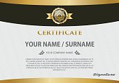 certificate template with luxury pattern,diploma,Vector illustration design