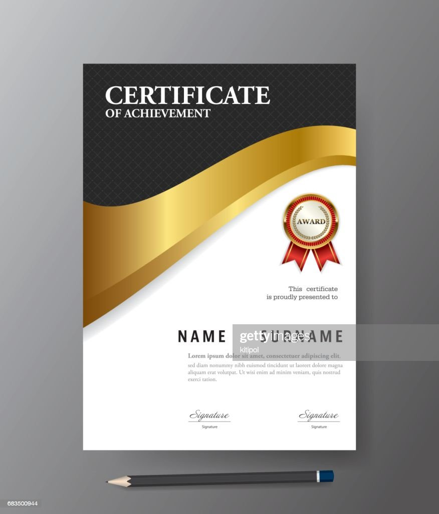 Certificate Templatea4 Size Diploma Vector Illustration Vector Art