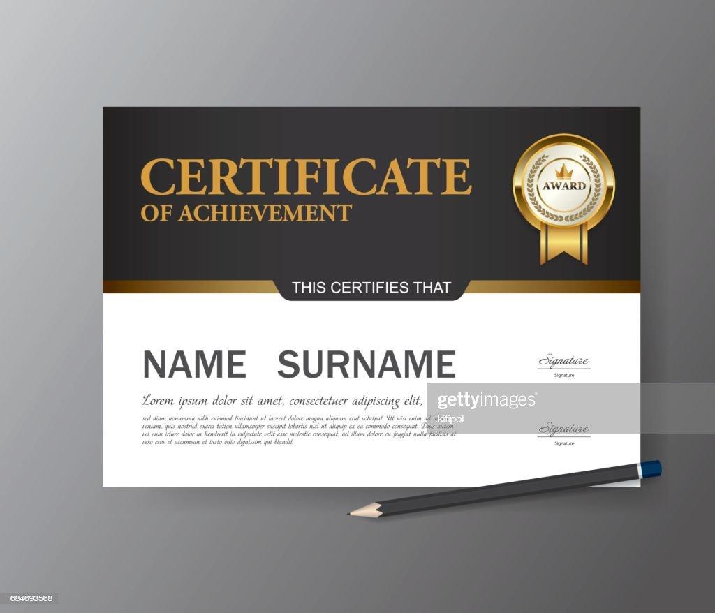 Certificate Templatea4 Size Diploma Vector Illustration Vector Art