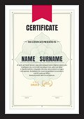 certificate template,abstract diploma layout,A4 size ,vector