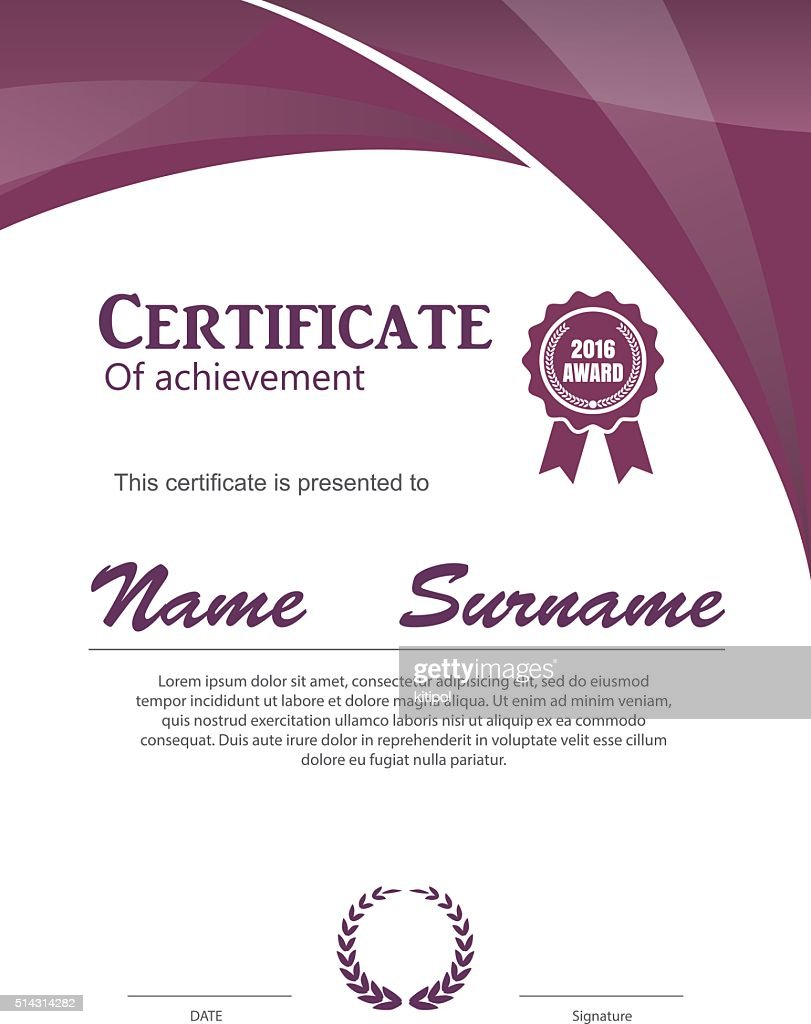 Certificate Templatediploma Layouta4 Size Vector Vector Art Getty
