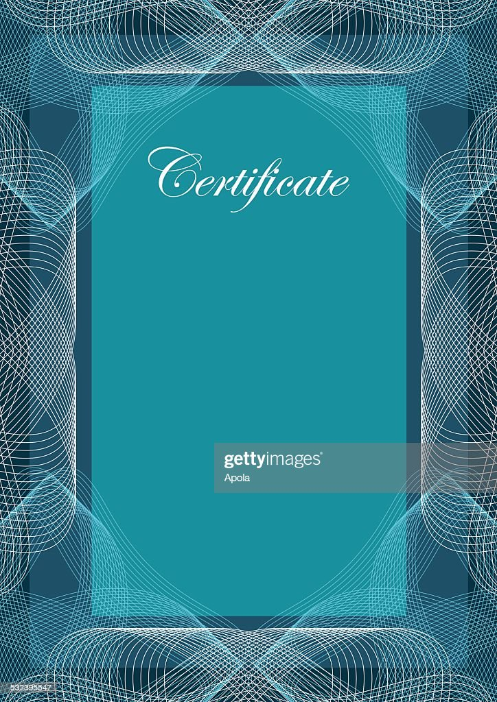 Certificate, vector background