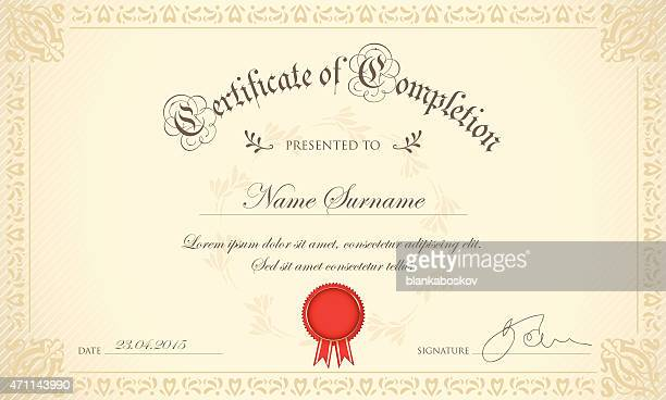 certificate - vintage stock stock illustrations
