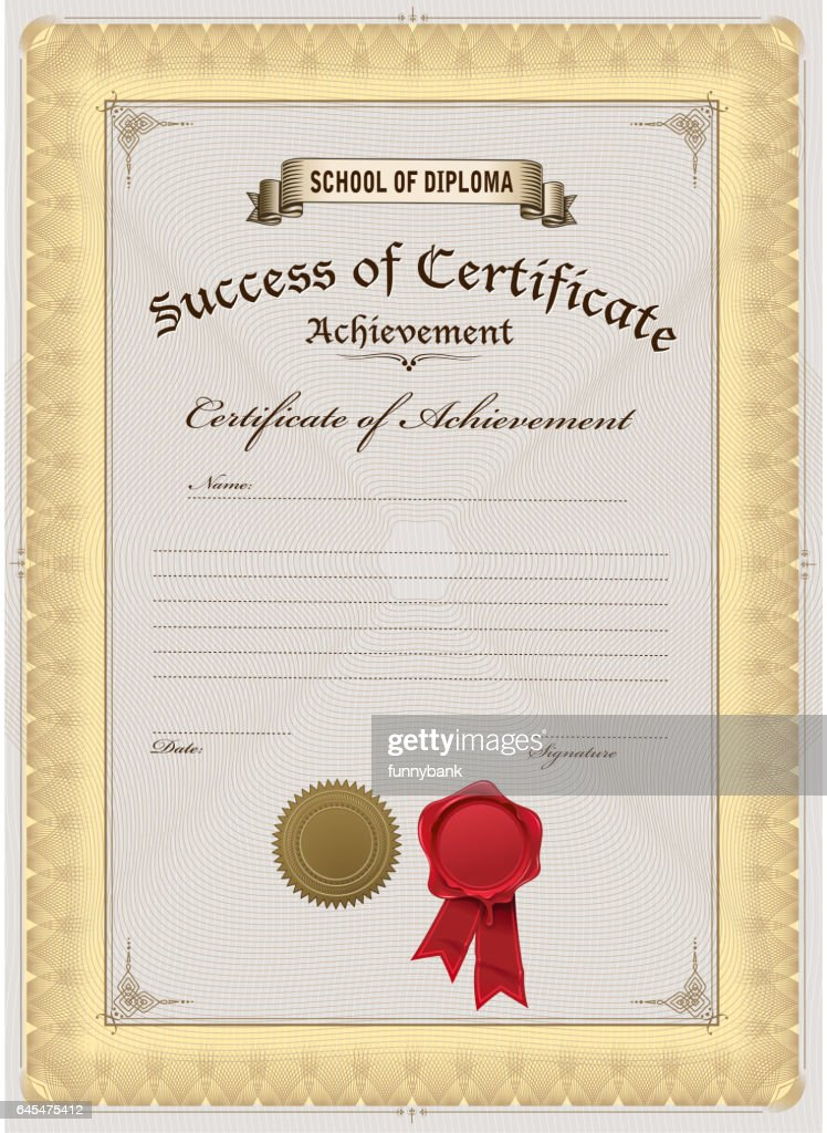 Certificate Vector Art Getty Images