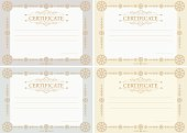 Certificates horizontal