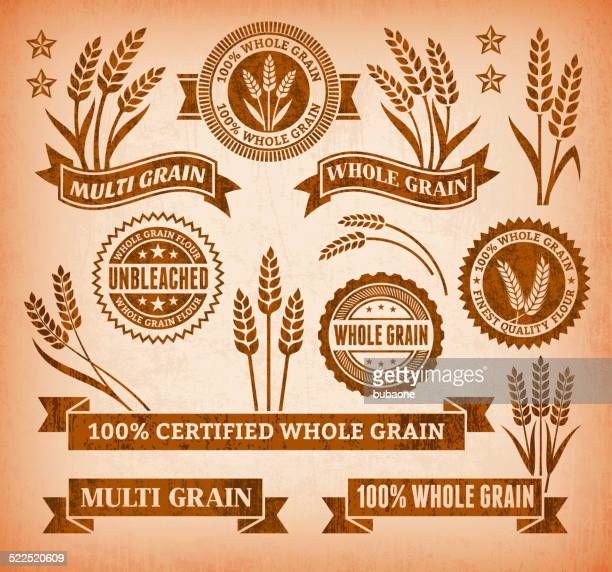 Certified Gluten Free Banners on royalty free vector Background