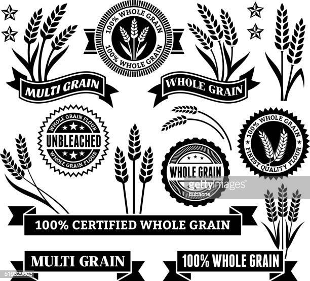 certified gluten free signs & banners - breakfast cereal stock illustrations, clip art, cartoons, & icons