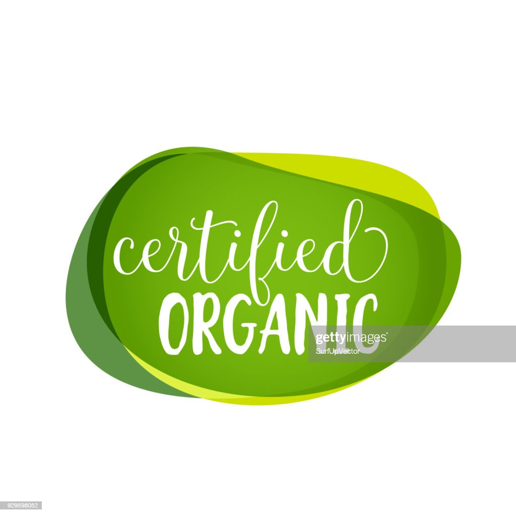 Certified Organic Lettering