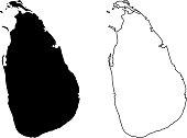 Ceylon map vector