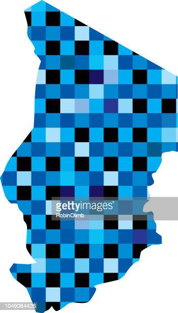 Cartes de Chad Blue Squares
