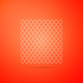 Chain Fence icon isolated on orange background. Metallic wire mesh pattern. Flat design. Vector Illustration