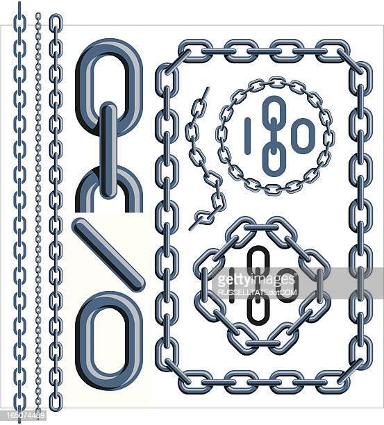 ilustraciones, imágenes clip art, dibujos animados e iconos de stock de eslabón de cadena gris oscuro - cadena