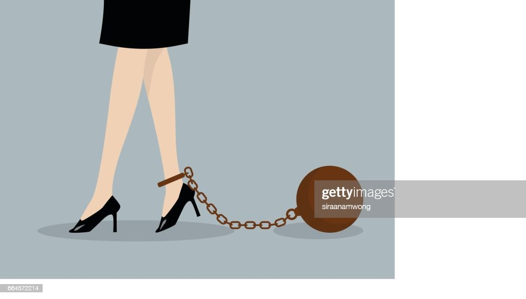Chained business woman