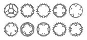 Chainring silhouettes set