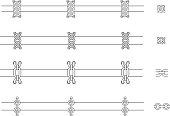 Chains web page dividers. Contour lines