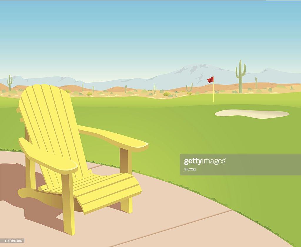 Chair on Desert Golf Course