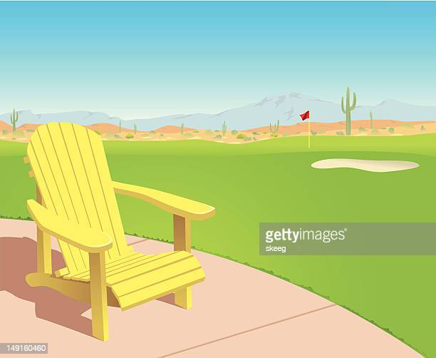Chair on Desert Golf Course