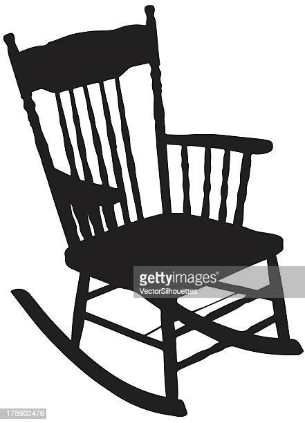 chair silhouette - rocking chair stock illustrations