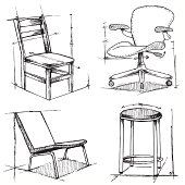 Chair Sketch (vector)