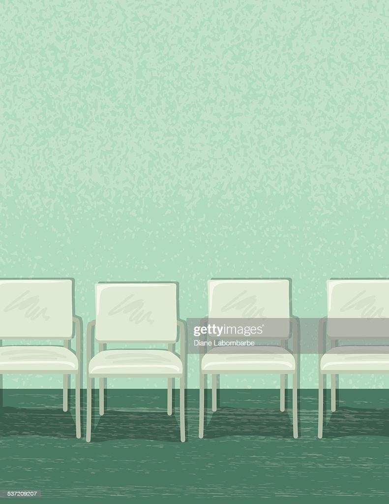Chaises Salle D Attente Cabinet Medical chaises vides doublée dans une salle dattente ou de bureau