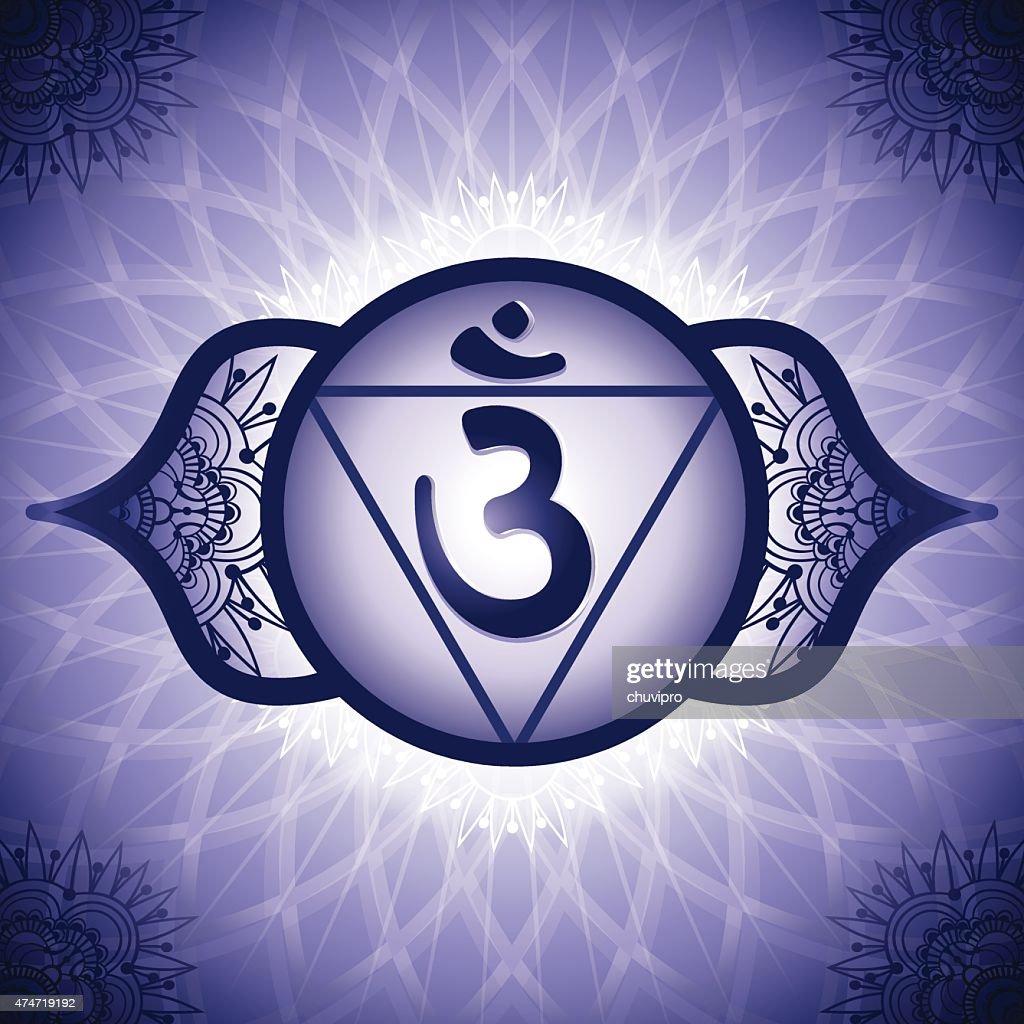 Chakra Symbol 6 Ajna Vector Art Getty Images