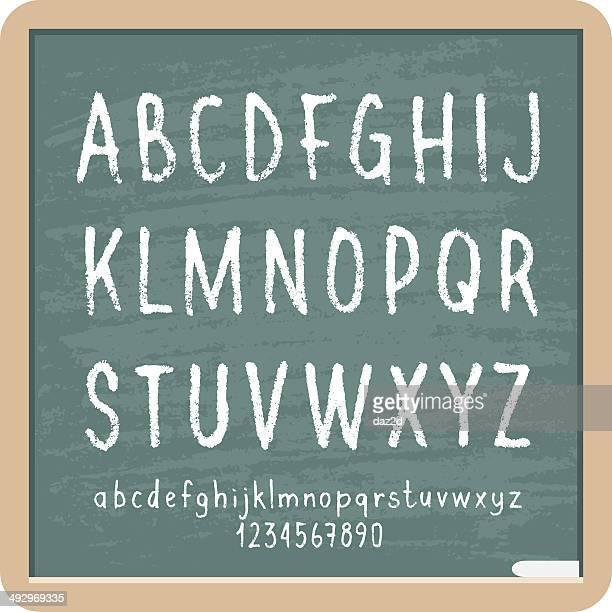 チョークの文字と番号 - アルファベット順点のイラスト素材/クリップアート素材/マンガ素材/アイコン素材