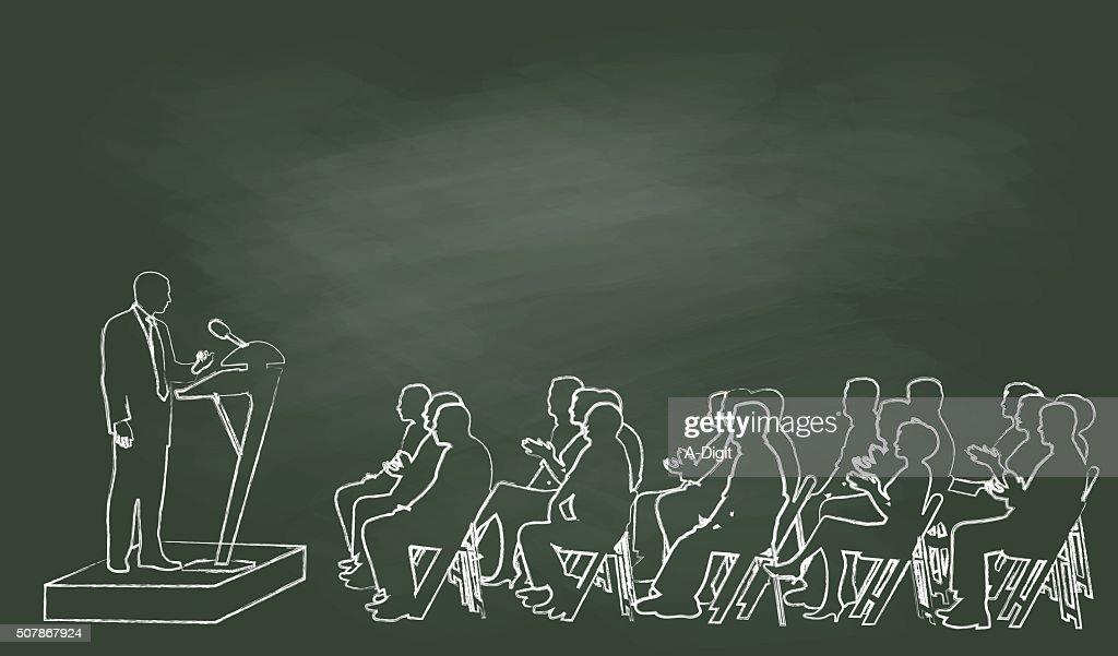 Chalk Public Speech : Vector Art