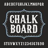 Chalkboard alphabet vector font