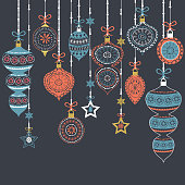 Chalkboard Christmas Ornament Collection