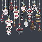 Chalkboard Christmas Ornament Set