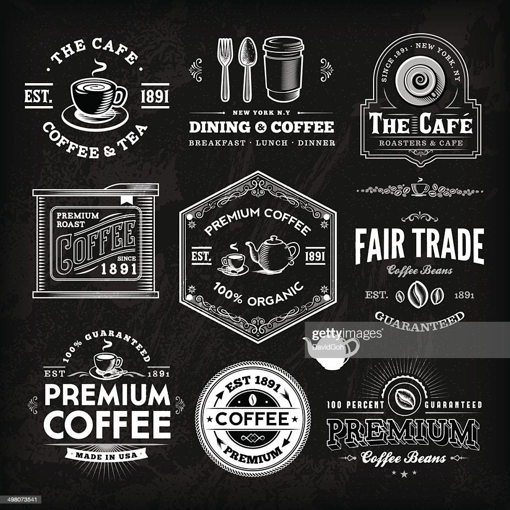 Chalkboard Coffee Label Set