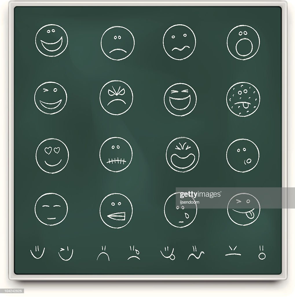 Chalkboard emoticons