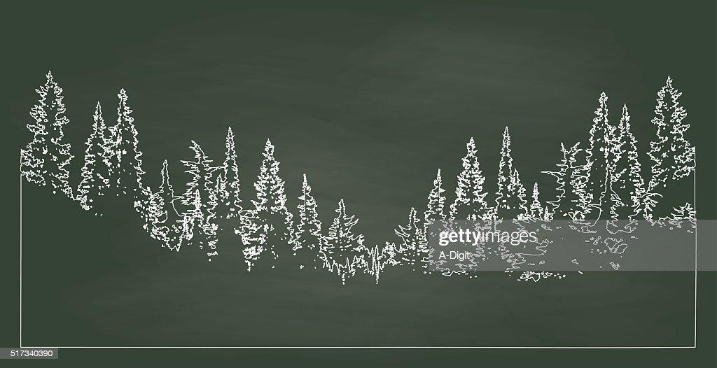 Chalkboard Forest