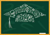 Chalkboard Graduation Cap